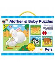 Puzzle-uri pentru copii 4 in 1 Galt - Mame si pui, Animale domestice -1