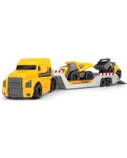 Set pentru copii Dickie Toys - Camion cu 2 automobile -1