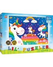 Puzzle Master Pieces de 24 piese - Rainbow unicorns