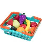 Set pentru copii Battat - Cos de cumparaturi cu fructre si legume -1