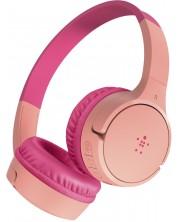 Casti cu microfon pentru copii Belkin - SoundForm Mini, wireless, roz