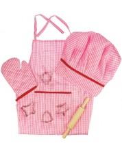 Set de gatit pentru copii Bigjigs - De imbracat, roz -1