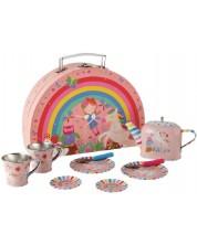 Set metalic de ceai pentru copii Floss and Rock - Zana curcubeului -1