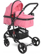 Carucior combinat pentru copii  Lorelli - Alba Classic  Candy Pink -1