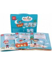 Gentuta pentru copii cu 3 carti distractive Apli - Pirati