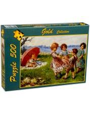 Puzzle Gold Puzzle de 500 piese - Copii la joaca