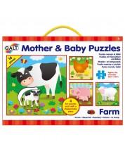 Puzzle-uri pentru copii 4 in 1 Galt - Mame si bebelusi, Ferma -1