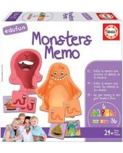 Puzzle pentru copii Educa de 40 de piese - Memo monstrii, joc de carti