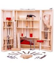 Cutie din lemn cu instrumente pentru copii Bigjigs -1