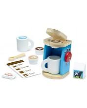 Aparat de cafea din lemn pentru copii Melissa & Doug - Cu accesorii -1