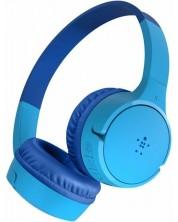 Casti cu microfon pentru copii Belkin - SoundForm Mini, wireless, albastre