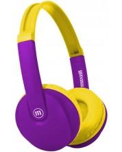 Casti pentru copii Maxell - BT350, violet/galben