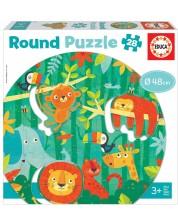 Puzzle pentru copii Educa de 28 piese - The jungle