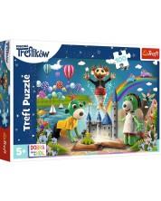 Puzzle pentru copii Trefl de 100 piese - Familia Treflik