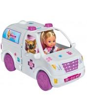 Set pentru copii Simba Toys Evi Love - Doctor Evi cu masina 2 in 1 -1