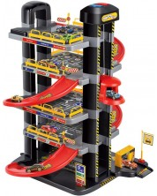 Jucarie pentru copii Asis - Parcare cu lift pe 4 nivele -1