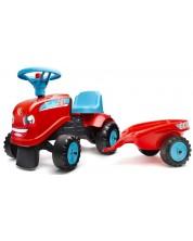 Tractor cu remorca pentru copii Falk - Rosu -1