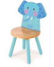 Scaunel din lemn pentru copii Bigjigs - Elefant