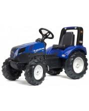 Tractor pentru copii Falk - New Holland, cu pedale, albastru -1