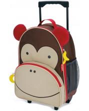 Ghiozdan cu roti pentru gradinita Skip Hop Zoo Luggage - Maimuta Marshall
