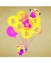 Felicitare Danilo - Crafty Minions: Birthday Ballons -1