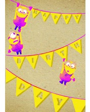 Felicitare Danilo - Crafty Minions: Birthday Bunting -1