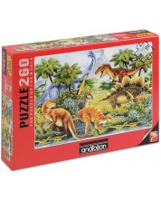Puzzle Anatolian de 260 piese - Valea dinozaurilor I, Howard Robinson