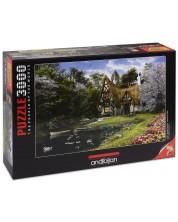 Puzzle Anatolian de 3000 piese - Casa de langa lac, Dominic Davison