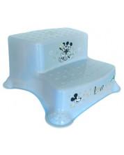 Inaltator de baie cu doua trepte pentru copi  Lorelli - Mickey Love, albastru deschis