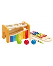 Set instrumente muzicale Hape - Xilofon cu ciocanas, din lemn  -1