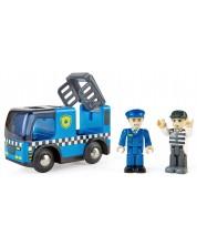 Jucarie din lemn Hape - Masina de politie cu sirene -1