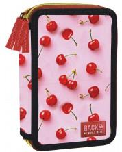 Penar scolar BackUP E31 - Cherry, cu 3 compartimente