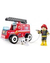 Jucarie din lemn Hape - Masina de pompieri -1