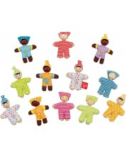 Figurine din lemn Hape - Bebelusi fericiti, sortiment -1