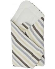Paturica tricotata pentru bebelusi EKO - in dungi gri, 75 х 75 cm -1