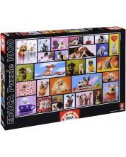 Puzzle Educa de 1000 piese - Momente impartasite