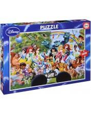 Puzzle Educa de 1000 piese - Lumea minunata Disney
