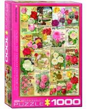 Puzzle Eurographics de 1000 piese – Catalog cu soiuri de trandafiri