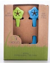 Set Eco suport de prindere pentru baveta eKoala - eKibby, 2 buc, albastru si verde -1