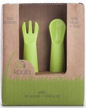 Tacamuri eco eKoala - Furculita si cutit, verde -1