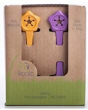 Set Eco suport de prindere pentru baveta eKoala - eKibby, 2 buc, mov si portocaliu -1