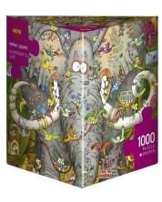 Puzzle Heye de 1000 piese - Viata elefantului, Marino Degano