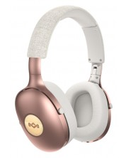 Casti wireless cu microfon House Of Marley - Positive Vibration XL, copper