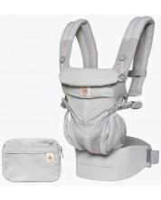 Marsupiu ergonomic Ergobaby Omni 360 - Cool Air Mesh, Pearl Grey -1