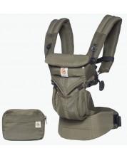 Marsupiu ergonomic Ergobaby Omni 360 - Cool Air Mesh, Khaki Green -1