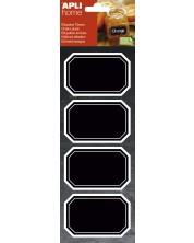 Etichete cu tabla neagra APLI - Dreptunghiulare, 8 bucati -1