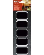 Etichete cu tabla neagra APLI - Dreptunghiulare, 12 bucati -1