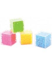 Joc de inteligenta Johntoy -  - Cub labirint, mic, sortiment -1