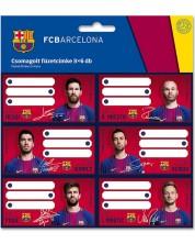 Set etichete scolare Ars Una - FC Barcelona, 18 bucati -1