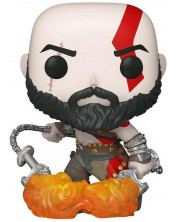 Figurina Funko POP! Games: God of War - Kratos with the Blades of Chaos (Glows in the Dark) #154